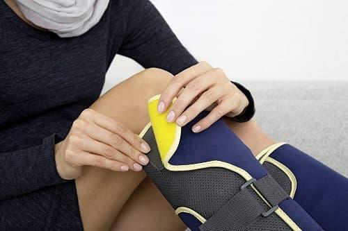 equipo presoterapia en piernas domestico
